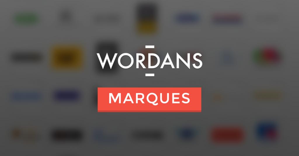 Marques avec Wordans